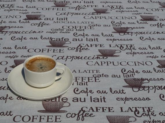 coffee design tablecloth photo - 1