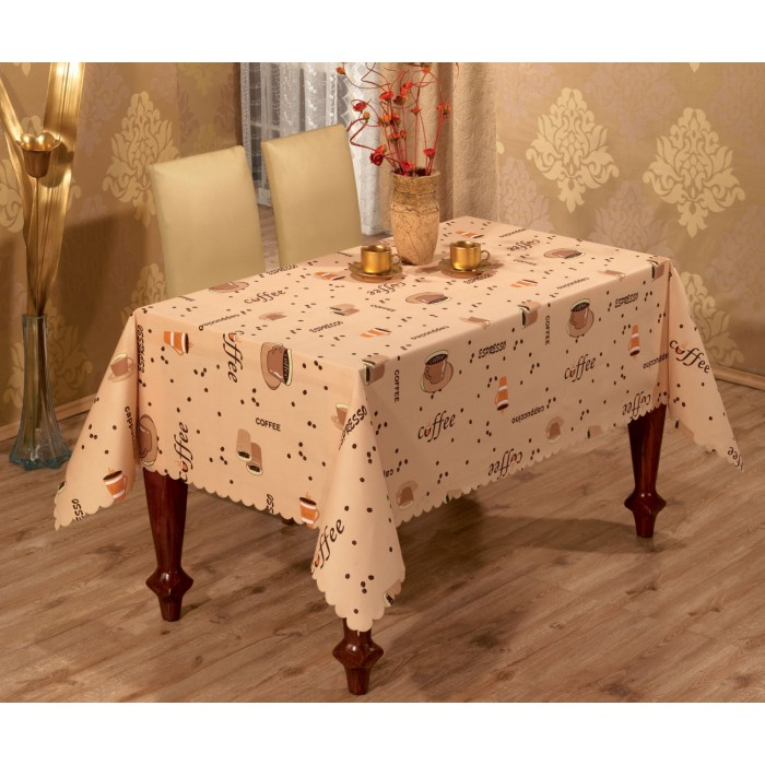 coffee design tablecloth photo - 3