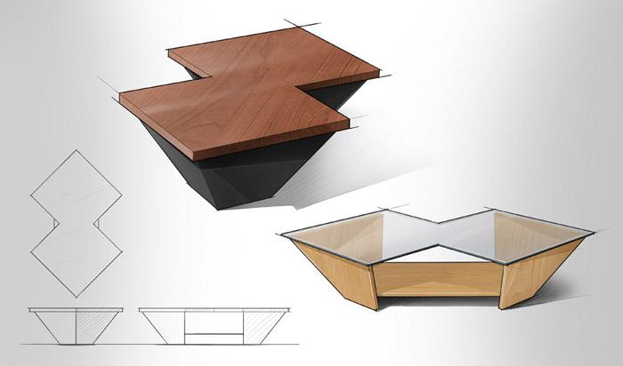 coffee table design concept photo - 1