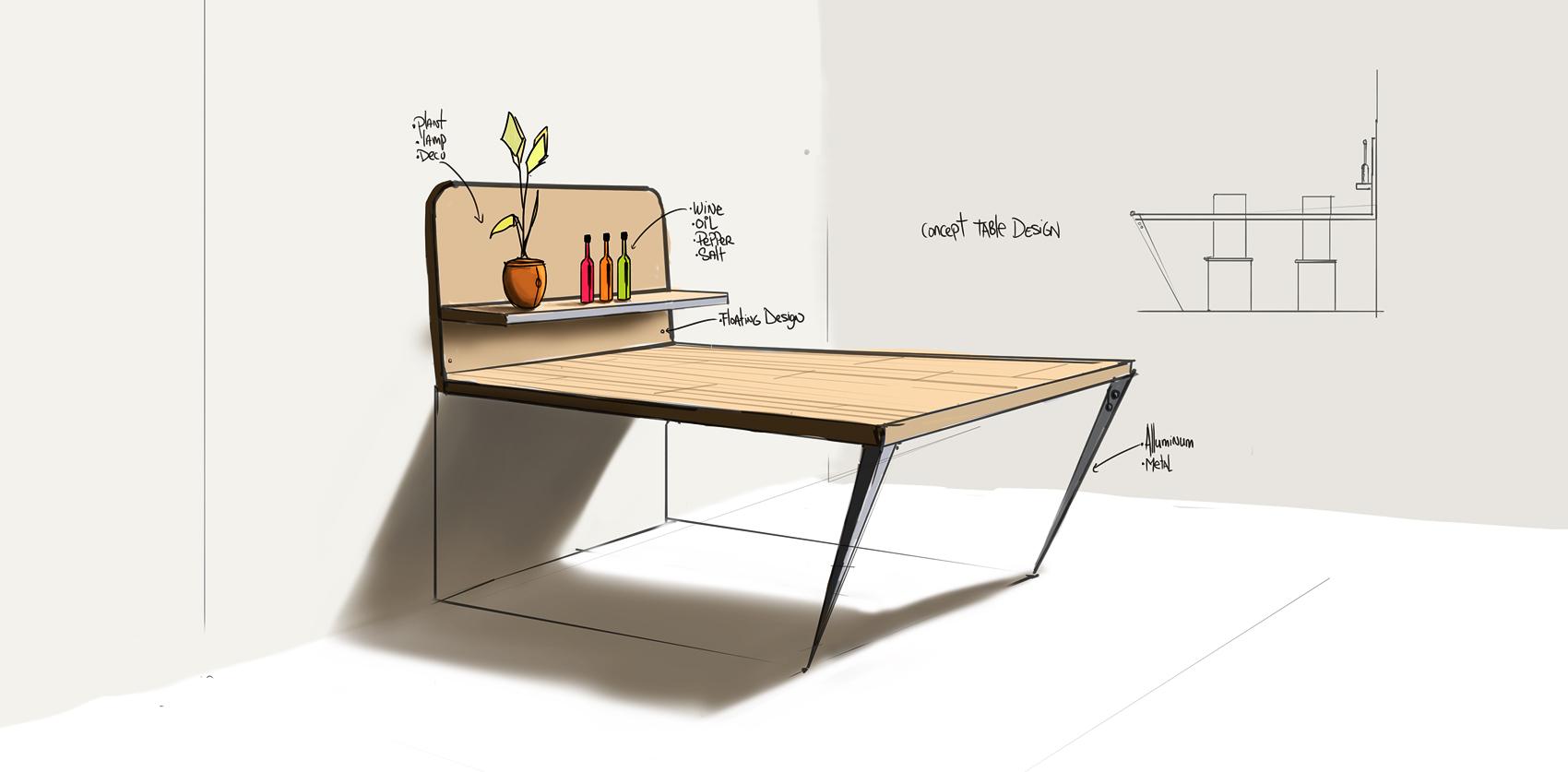 coffee table design concept photo - 3