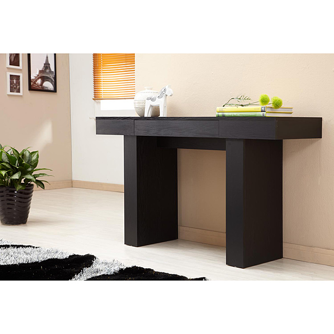 contemporary black sofa table photo - 1