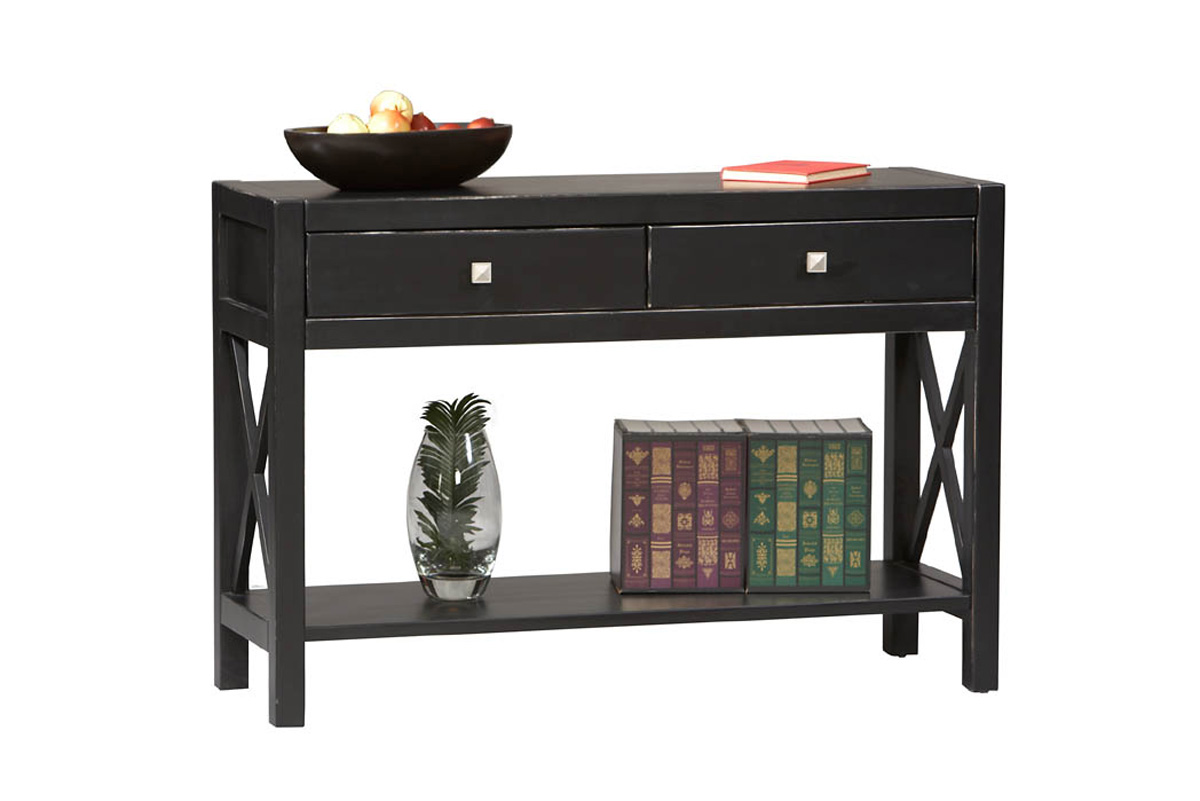 contemporary black sofa table photo - 2