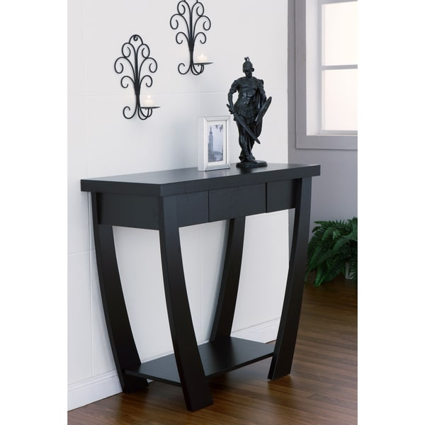 contemporary black sofa table photo - 3