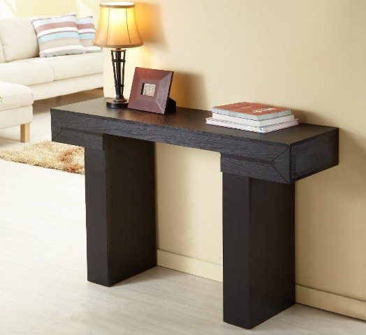 contemporary black sofa table photo - 6
