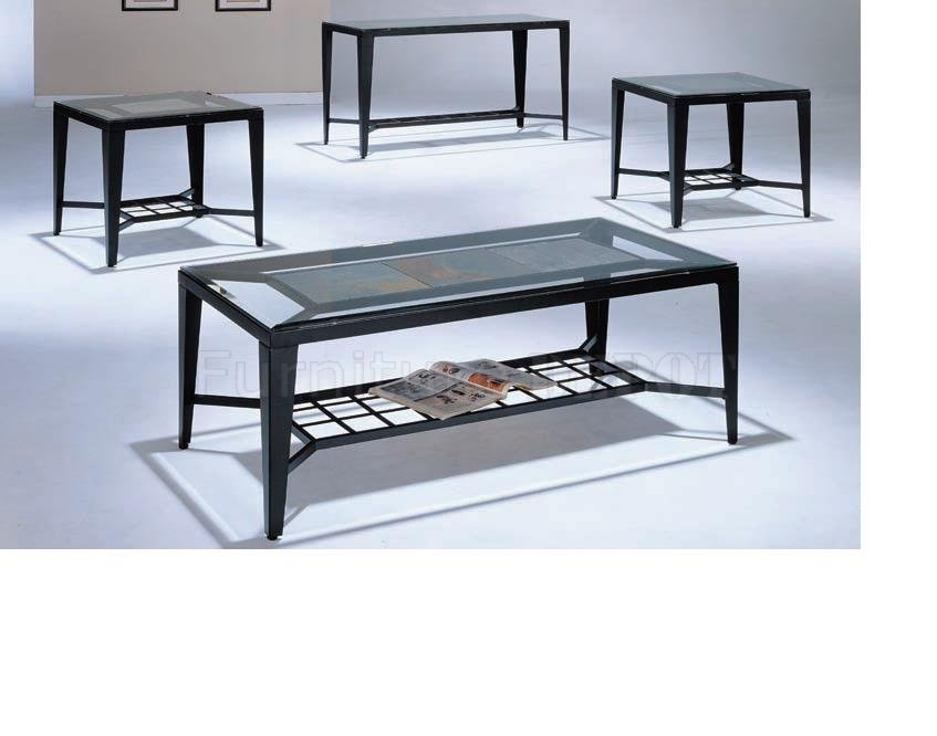 contemporary black sofa table photo - 7