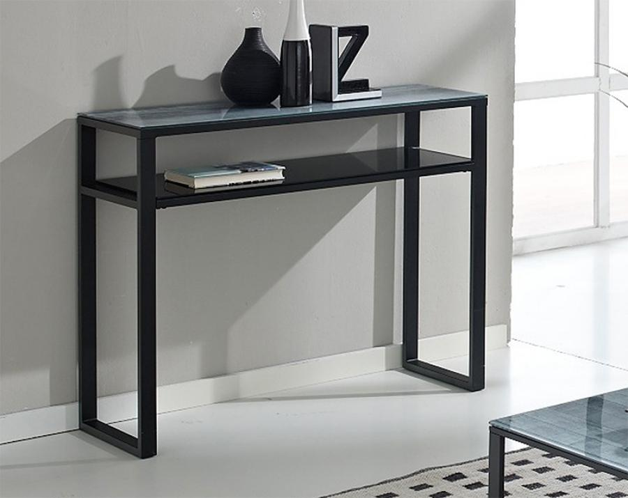 contemporary black sofa table photo - 8
