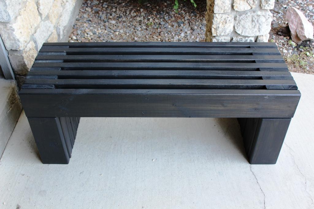 contemporary garden bench plans photo - 4