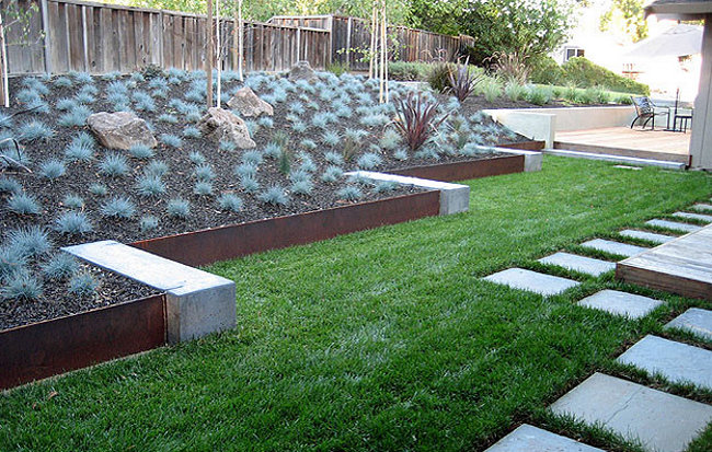 contemporary garden border ideas photo - 4