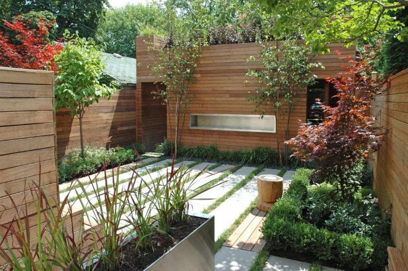 contemporary garden fencing ideas photo - 10