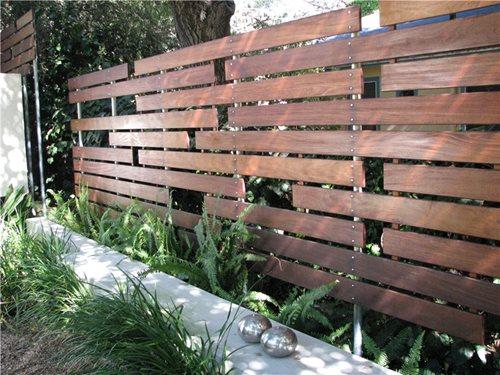 contemporary garden fencing ideas photo - 6