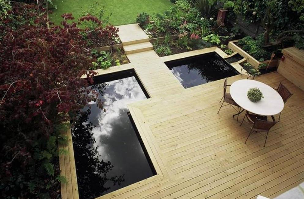 contemporary garden pond ideas photo - 3