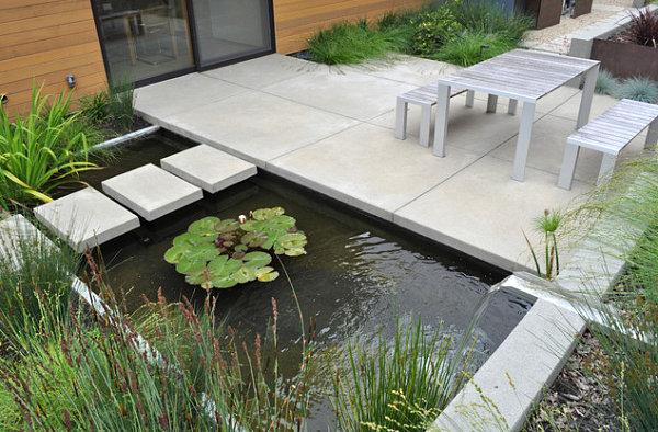 contemporary garden pond ideas photo - 4