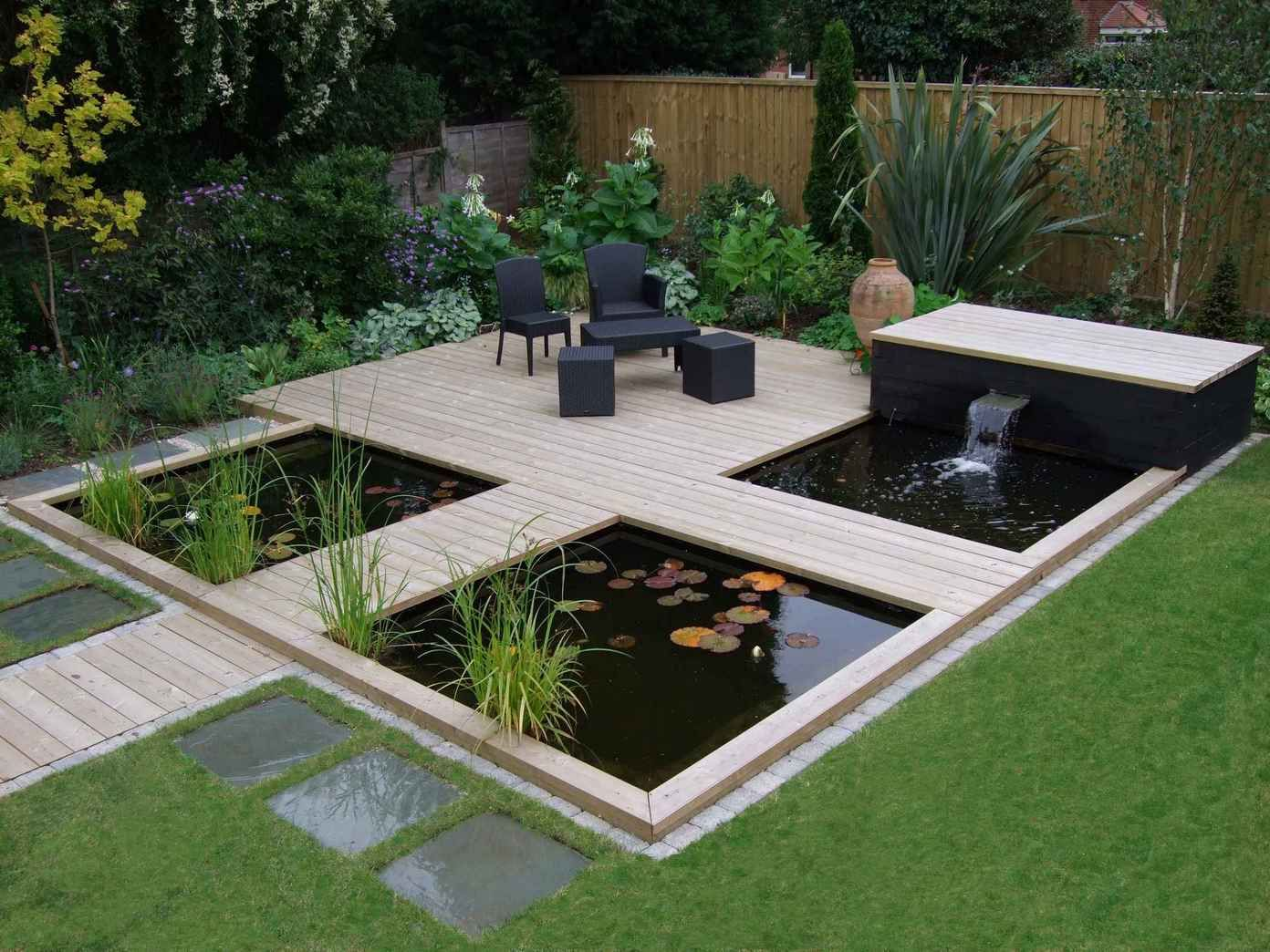 contemporary garden pond ideas photo - 5