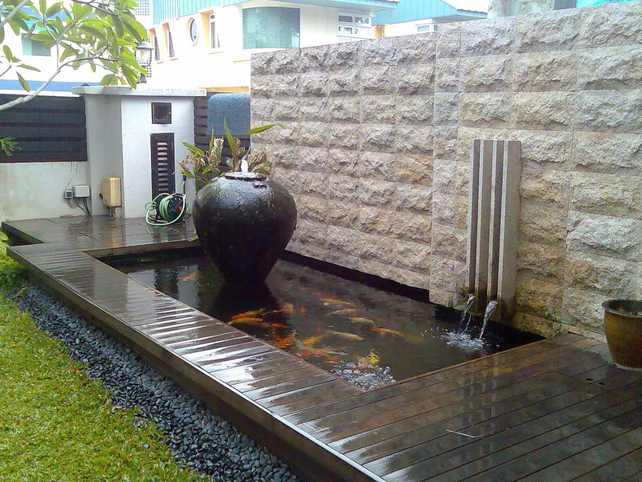 contemporary garden pond ideas photo - 6