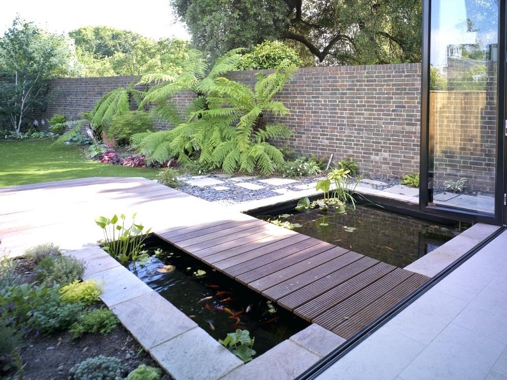 contemporary garden pond ideas photo - 7