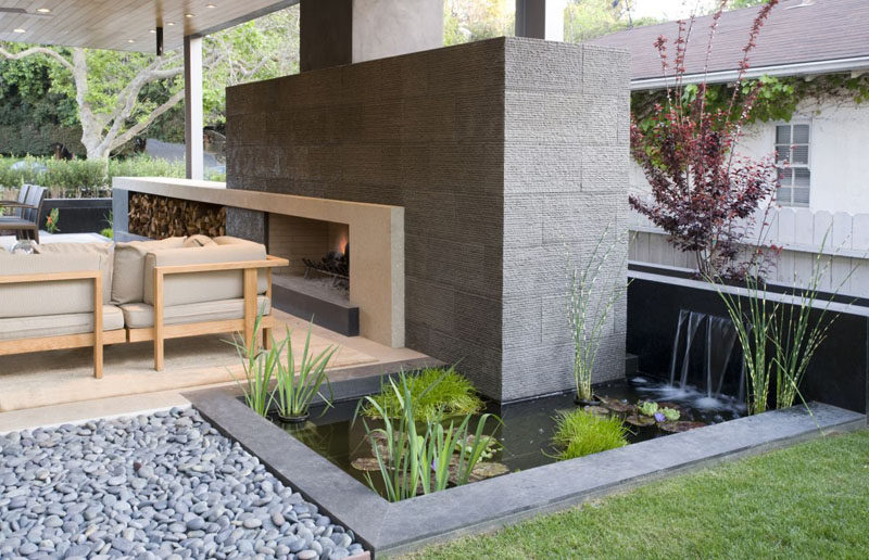contemporary garden pond ideas photo - 9