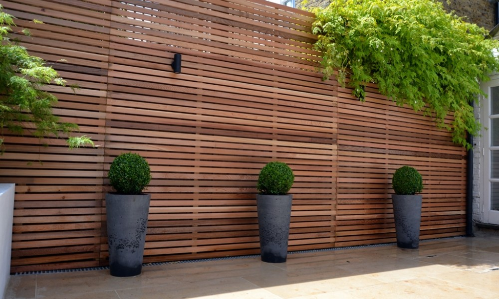 contemporary garden screening ideas photo - 4