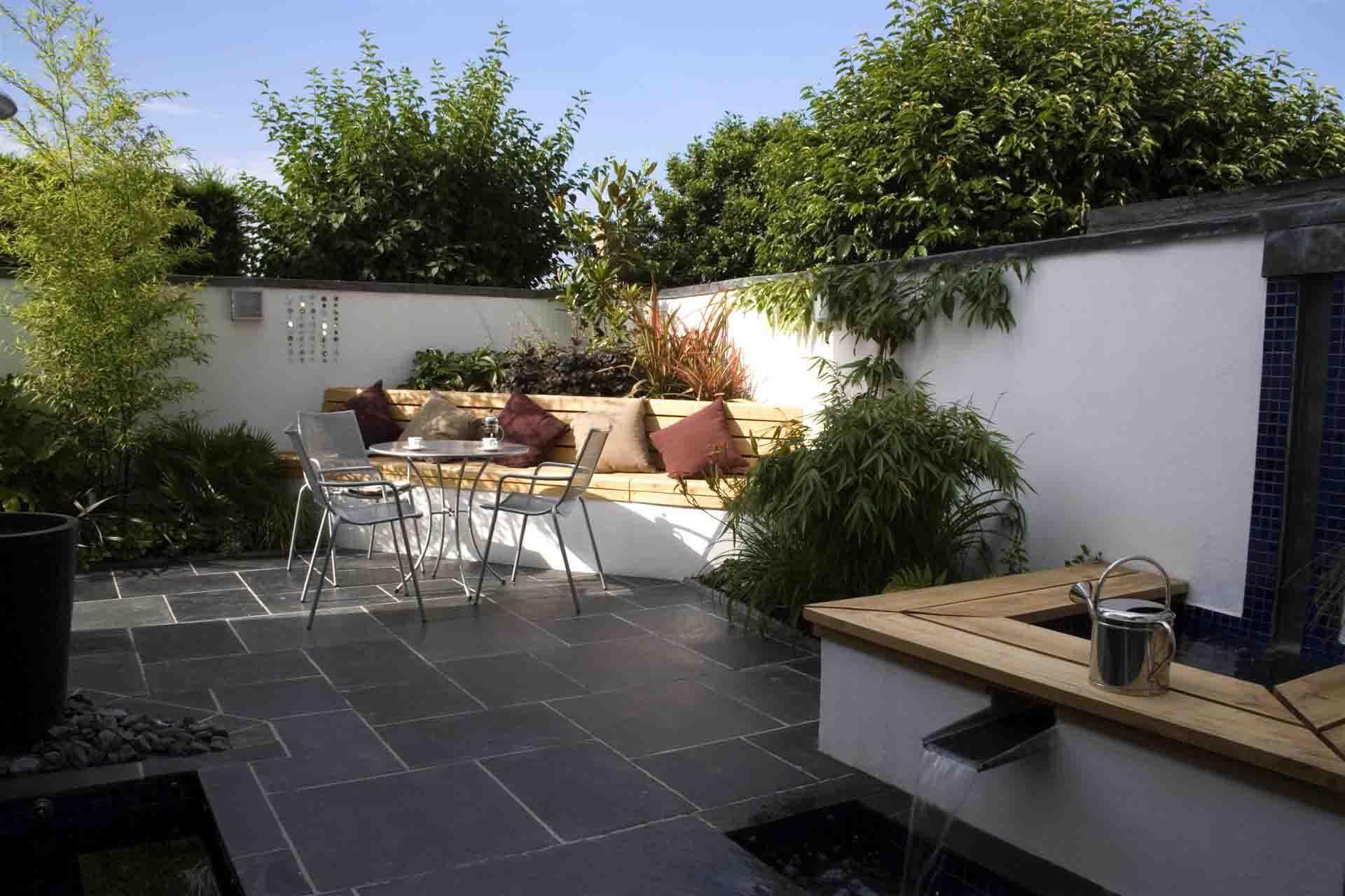 contemporary garden seating ideas photo - 5
