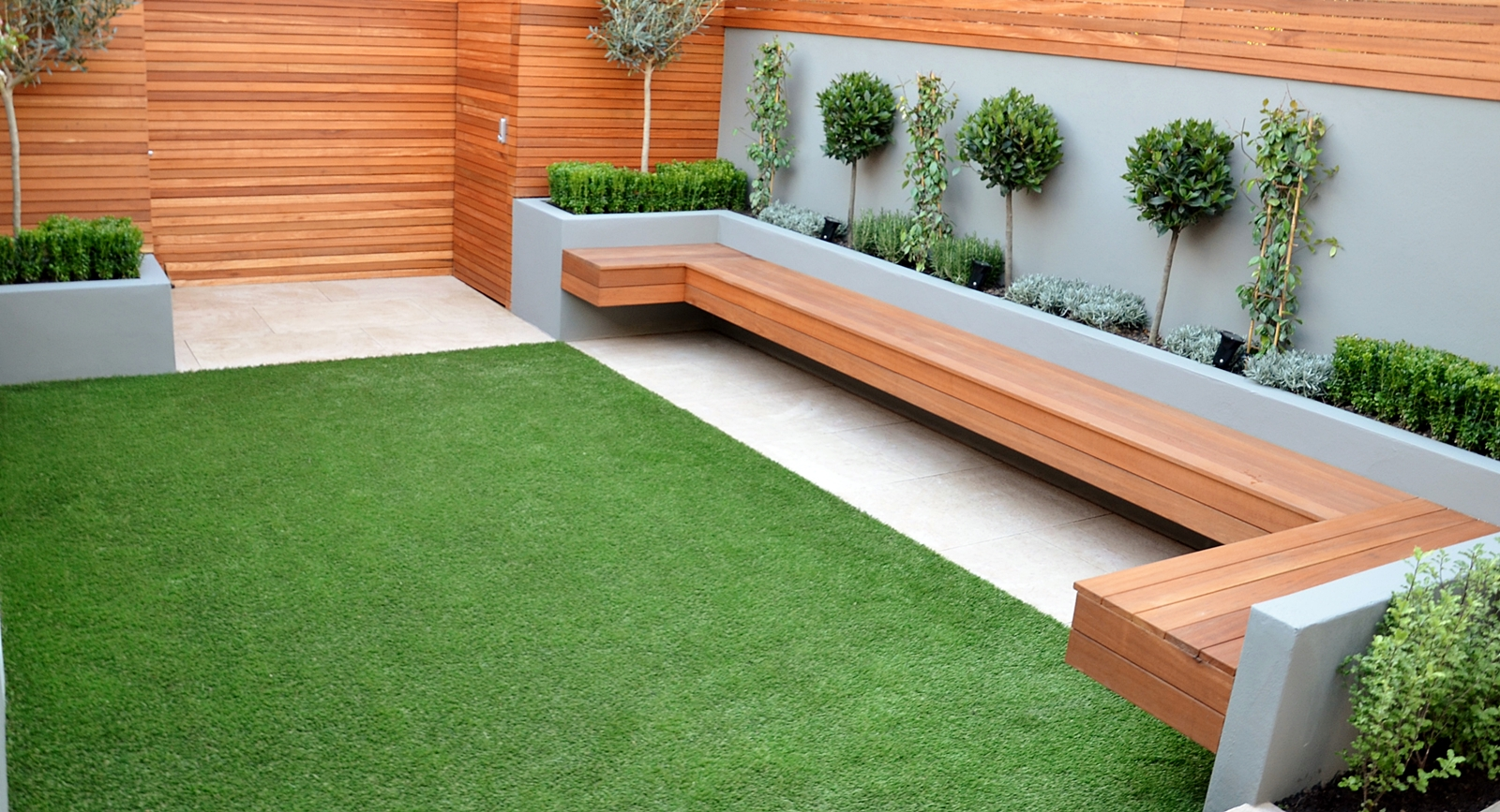contemporary garden seating ideas photo - 9