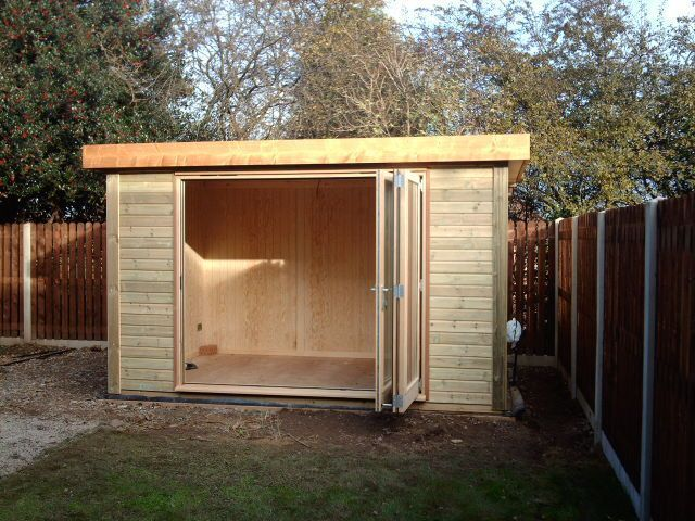 contemporary garden shed plans photo - 3