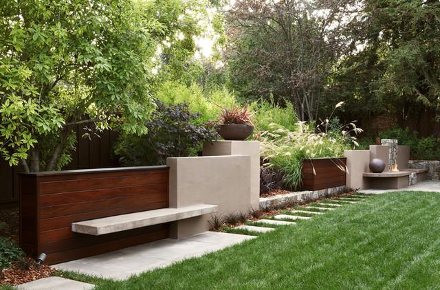 contemporary garden wall ideas photo - 8