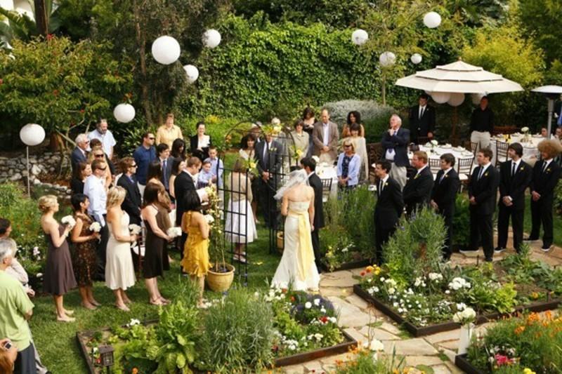 contemporary garden wedding ideas photo - 9
