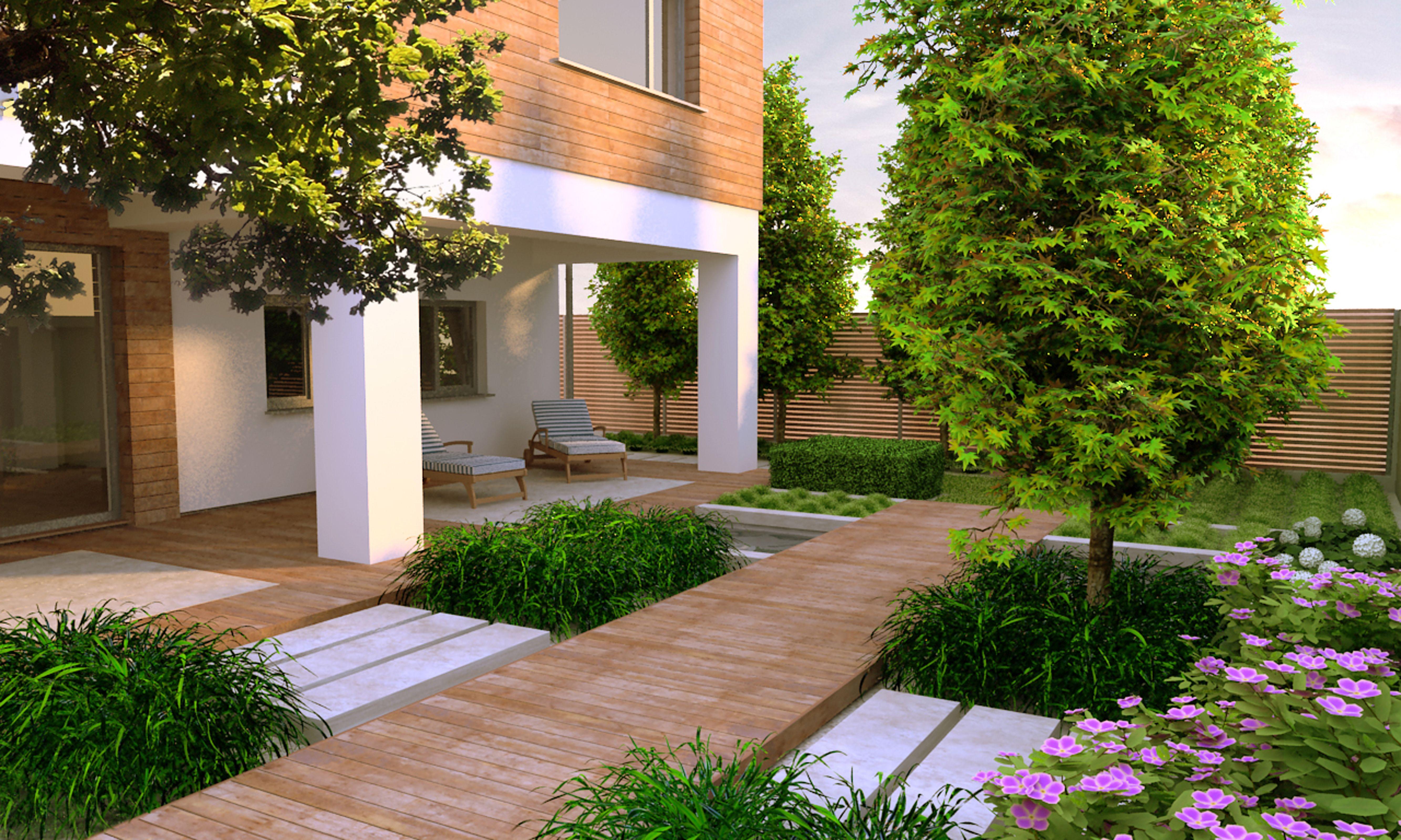 contemporary gardens design ideas photo - 8