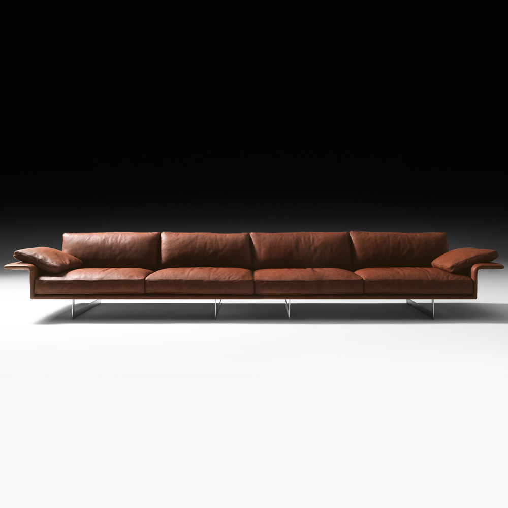 contemporary sectional sofas leather photo - 2