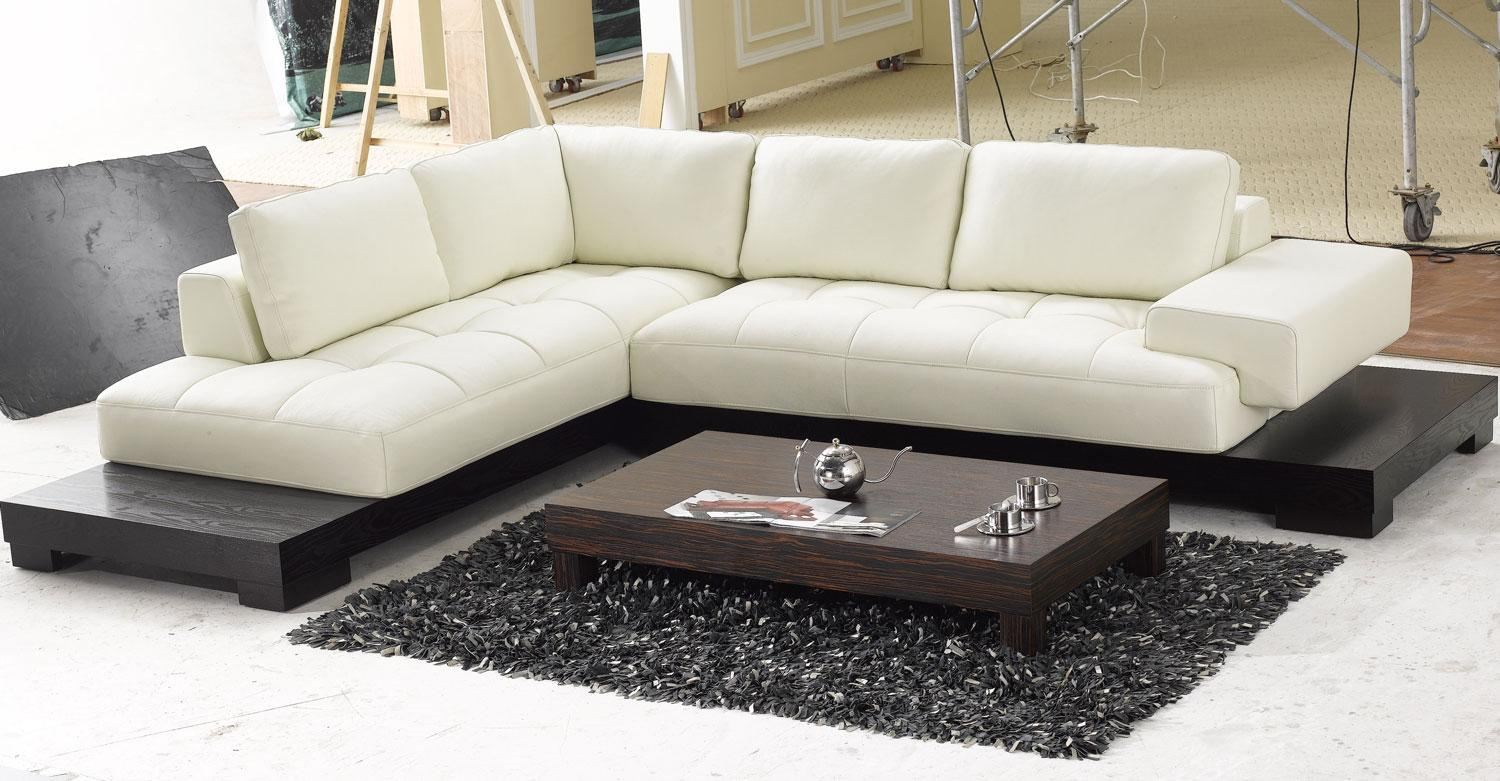 contemporary sectional sofas leather photo - 4