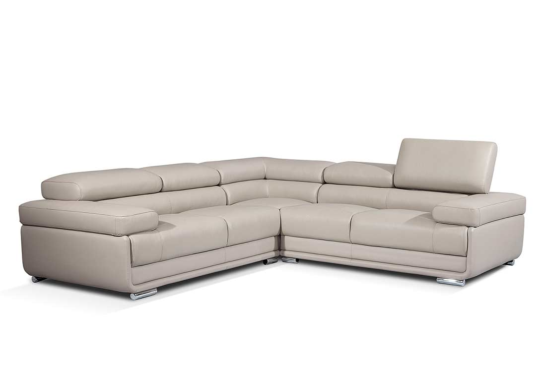 contemporary sectional sofas leather photo - 6