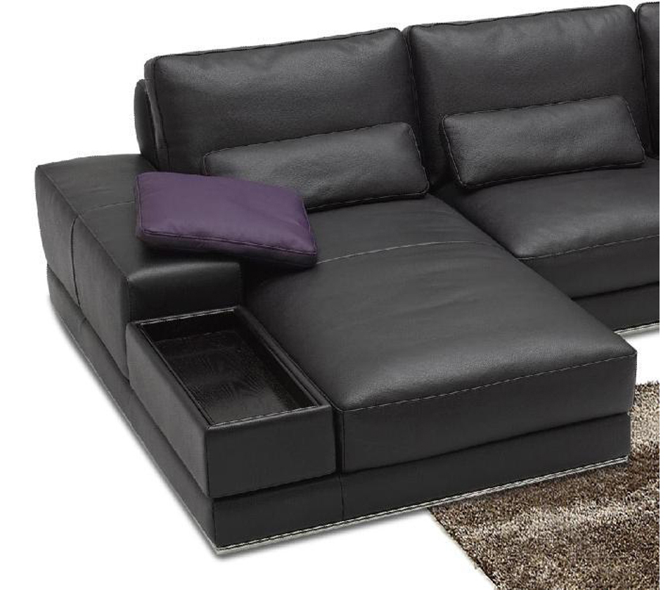 contemporary sectional sofas leather photo - 7