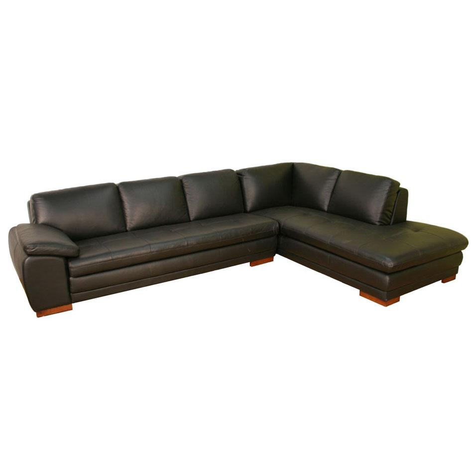 contemporary sectional sofas leather photo - 8
