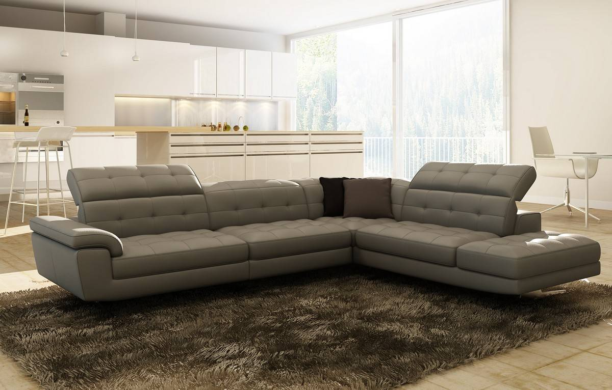 contemporary sectional sofas leather photo - 9