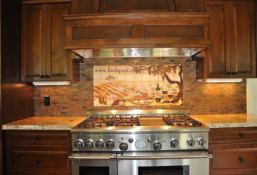 Country Kitchen Tile Backsplash Designs Ideas