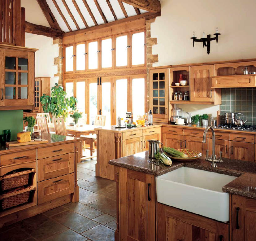 country kitchen cabinet designs photo - 7