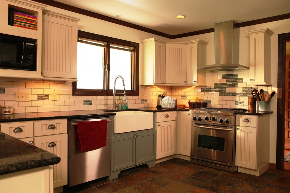country kitchen cabinet designs photo - 9