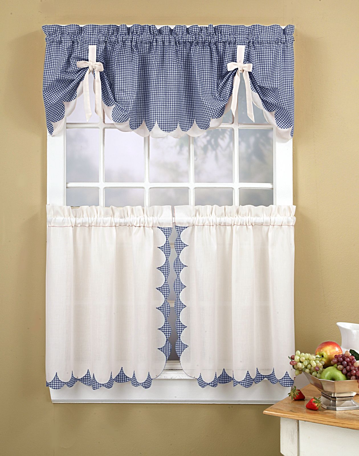 country kitchen curtain designs photo - 5