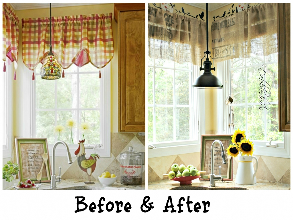 country kitchen curtain designs photo - 9
