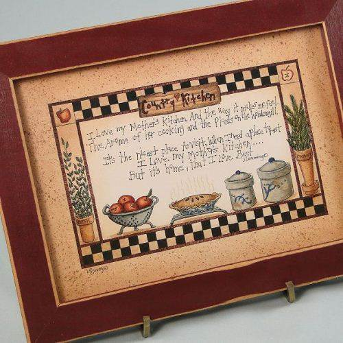 country kitchen framed pictures photo - 1