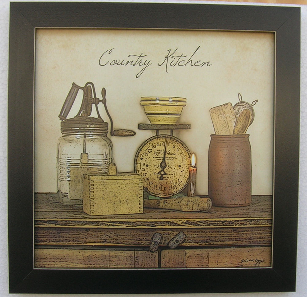 country kitchen framed pictures photo - 8