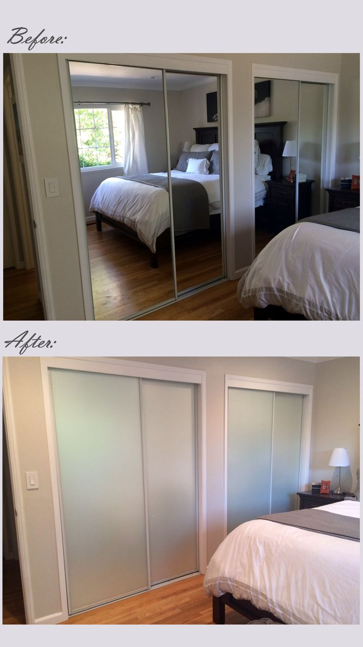 covering mirrored glass closet doors photo - 1