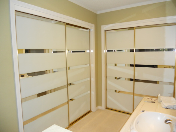 covering mirrored glass closet doors photo - 10