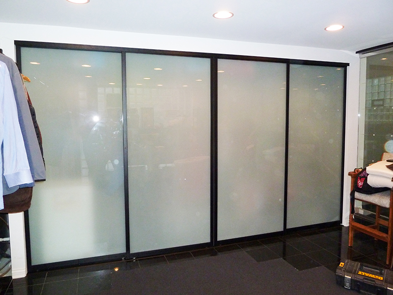 covering mirrored glass closet doors photo - 5