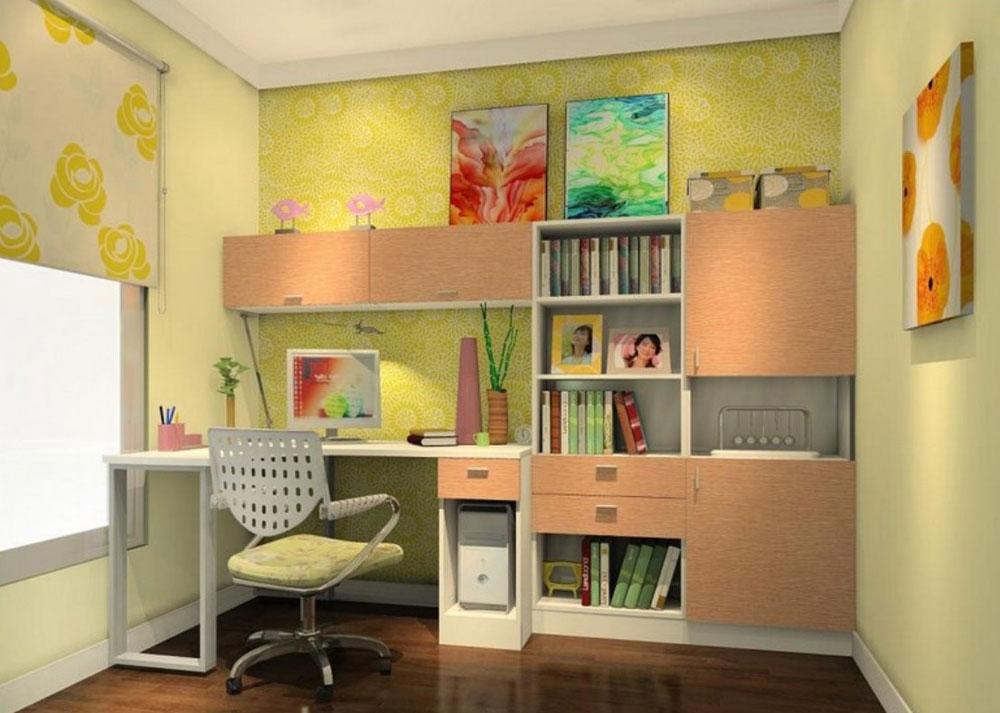 cupboard designs study room photo - 10