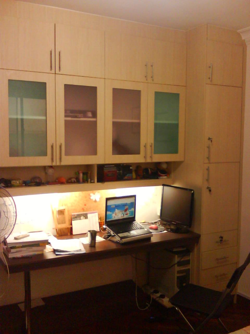 cupboard designs study room photo - 4