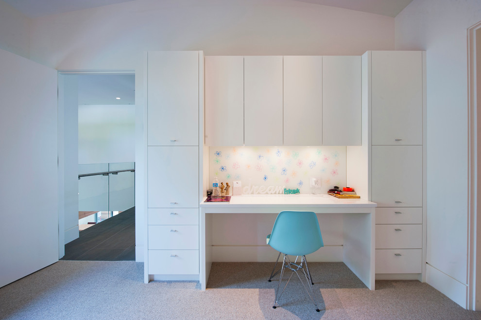 cupboard designs study room photo - 7