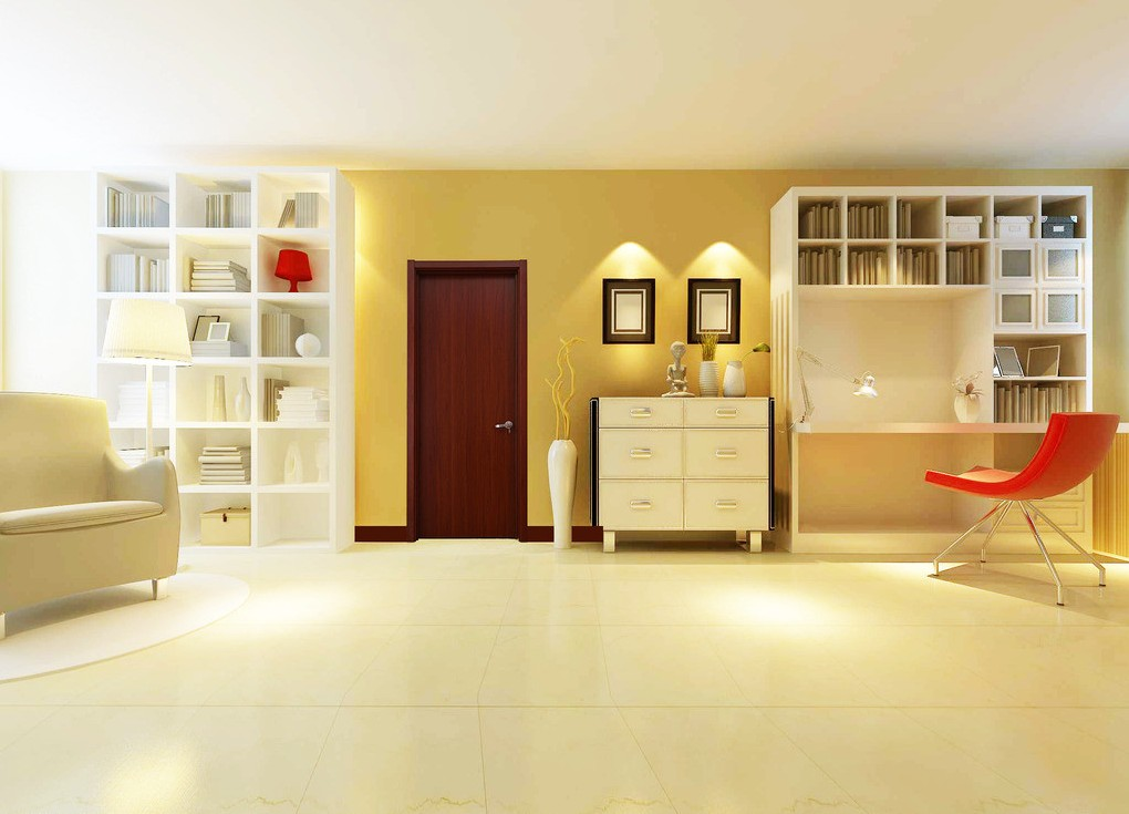 cupboard designs study room photo - 8