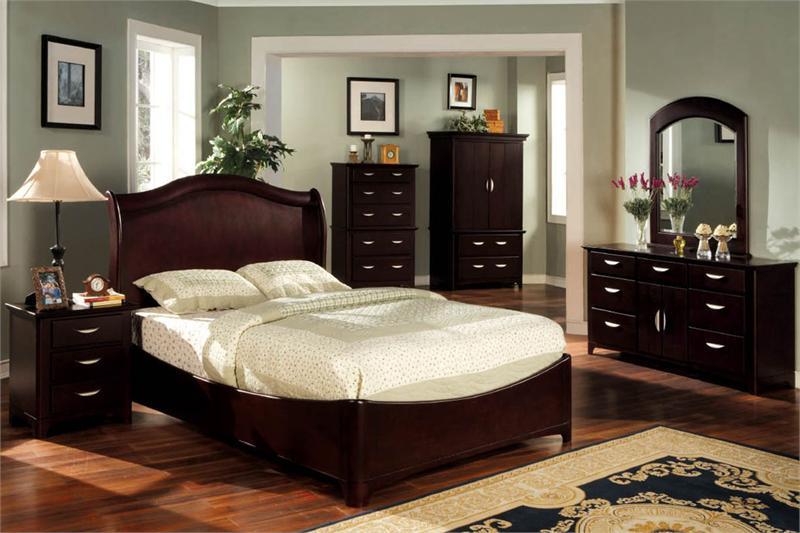 Dark Bedroom Furniture Decorating Ideas Photo 2