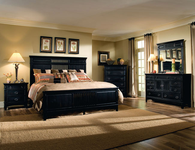 Attrayant Dark Bedroom Furniture Decorating Ideas Photo   3