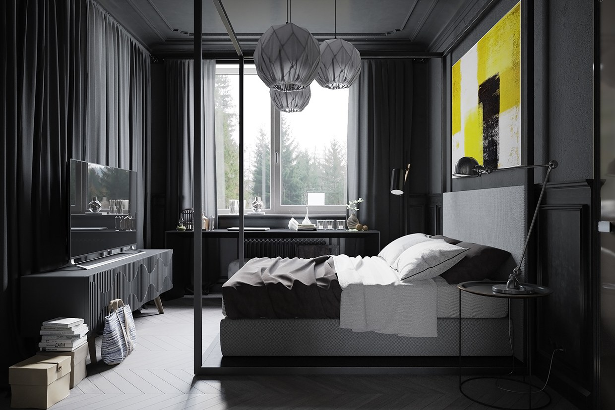 dark grey bedrooms ideas photo 2 - Dark Grey Bedroom
